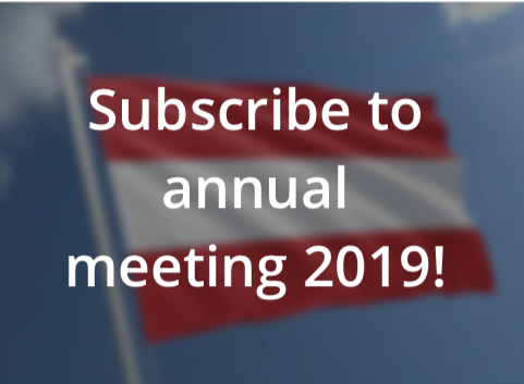 Subscribe to annual meeting 2019!